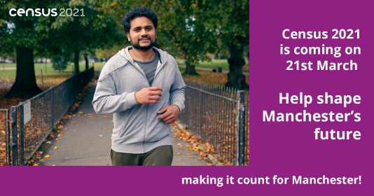 """Help shape Manchester's future"" - Census poster"